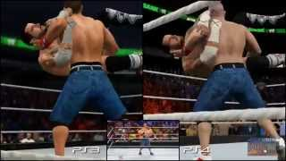 WWE 2K15 Graphics Comparison: PS3 vs PS4 vs Real Life (CM Punk vs. John Cena - 2K Showcase)