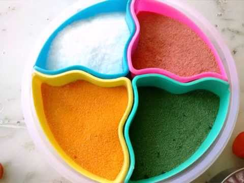 how to make glitter sand for rangoli designs by aarti gupta