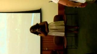 National Anthem sung by Krystal A Harris