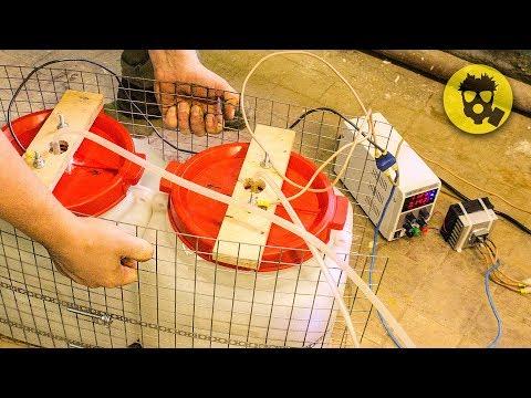 🔥 Огромный генератор водорода и кислорода своими руками