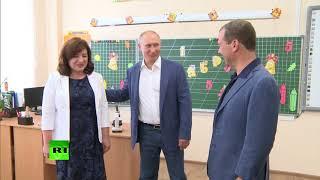Путин посетил образовательный центр «Бухта Казачья» в Севастополе