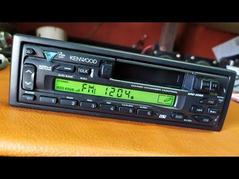 Estereo radio AM FM Kenwood Cassette CD MD changer Old School KRC-208s