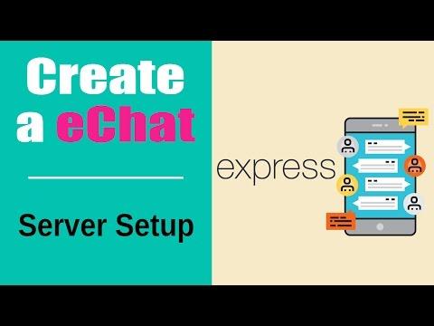 Create an eChat App | Build eChat App with Socketio | Server Setup | Part 3