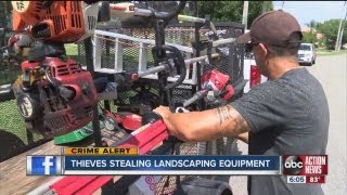 Landscaping equipments thefts may be related