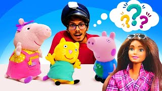 Peppa Pig Toys & Barbie Doll: Funny Stories for Kids