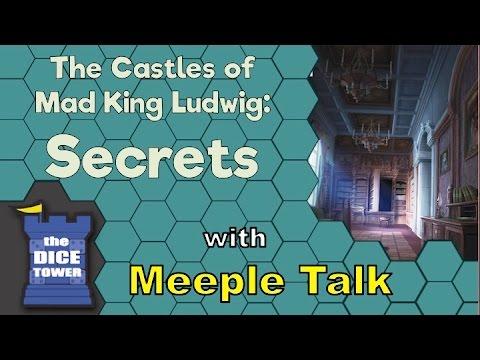 Meeple Talk reviews Castles of Mad King Ludwig : Secrets!