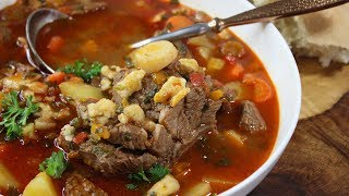 Hungarian Goulash/ Authentic Recipe With Hungarian Pinched Noodles