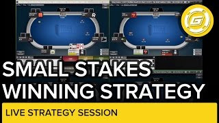 Online Poker Strategy - Winning Session At Small Stakes No-Limit Hold'em