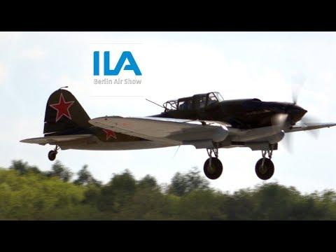 4Kᵁᴴᴰ / Ilyushin IL-2 Sturmovik - First Flight over Berlin after 73 Years of WW2 @ ILA 2018