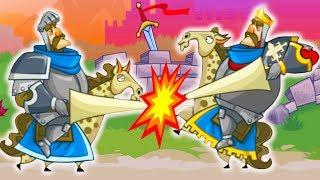 БИТВА КОРОЛЕЙ! Tower Conquest Видео для детей про БОИ и СРАЖЕНИЯ на АРЕНЕ от Cool GAMES
