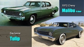 GTA V Cars Vs Real Life Cars #2 | All Muscle Cars