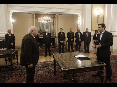 Alexis Tsipras jura su cargo como nuevo primer ministro de Grecia