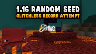 Record Attempt: Beating Minecraft 1.16 On A Random Seed