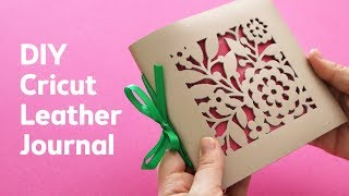 DIY Leather Journal With Cricut Maker | Sea Lemon