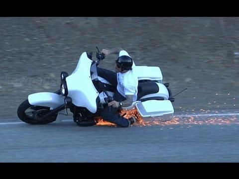 Harley Davidson Street Glide Motorcycle Crash