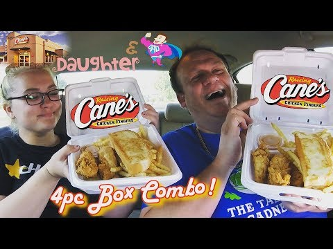 Raising Cane's ☆4PC CHICKEN FINGERS BOX w/DAUGHTER☆ Food Review!!!