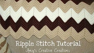 How To Crochet Ripple Stitch Afghan Tutorial - Crochet Jewel