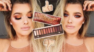 FIRST IMPRESSIONS/GLAM GRWM: URBAN DECAY NAKED HEAT PALETTE! | Rachel Leary