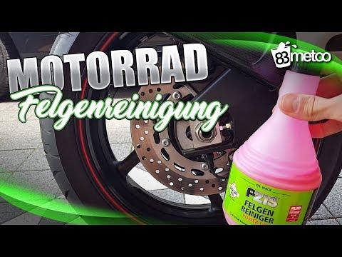 Motorradfelgen reinigen Tipps - Motorrad Felgen sauber machen - Motorrad Felgenreiniger Test