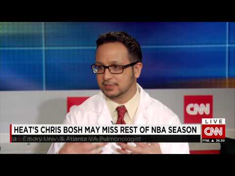 Chris Bosh medical condition CNN International World Sport interview with Dr. Ashish Mehta
