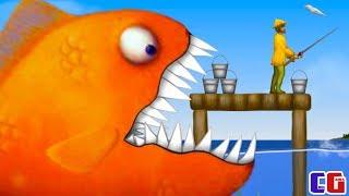 Tasty Blue #2 ЗУБАСТИК съедает РЫБАКА Веселый игровой мультфильм для детей про РЫБКУ ОБЖОРУ