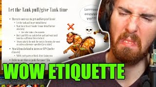 "Asmongold Reactions ""The Guide to Classic WoW Etiquette - Tips for New and Returning Players"""