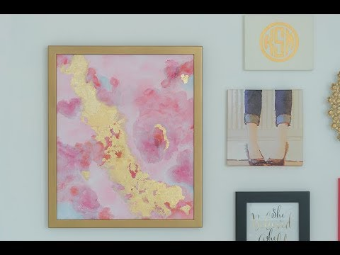 How To…DIY Abstract Painting with Acrylics and Gold Leaf