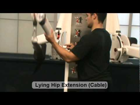 Lying Hip Extension Cable