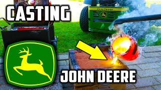 Casting Brass Mirror Polished John Deere Logo - Video Youtube