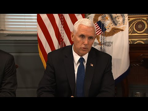 Vice President Mike Pence is calling on Venezuela to immediately release six American oil executives jailed for more than a year without trial. (April 2)