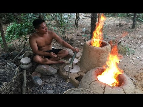 Primitive Life:Furnace-Blowing system!