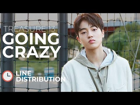 TREASURE 13 - GOING CRAZY L Line Distribution (Color Coded)