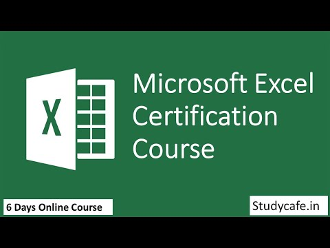 Day-1: 4 Days Online Excel Certificate Course - YouTube