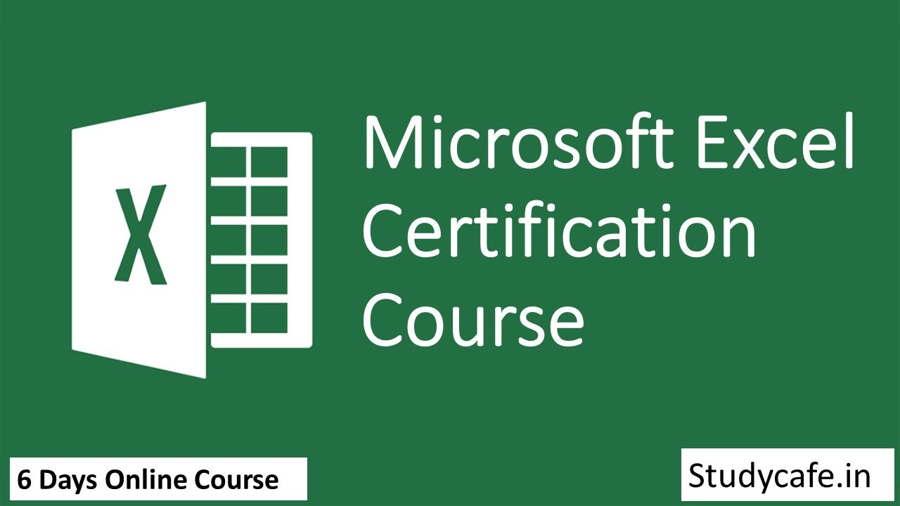 Microsoft Excel Basic to Advance Certification Course by Studycafe