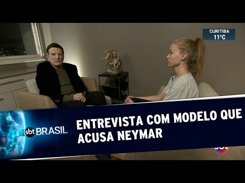 Exclusivo: Modelo que acusa Neymar de estupro fala com Roberto Cabrini