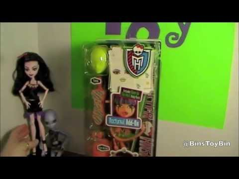 Monster High Create-A-Monster Design Lab Nocturnal Add-On Pack Review! by Bin's Toy Bin