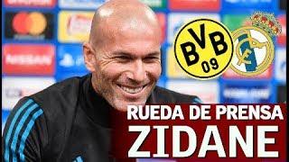 Dortmund - Real Madrid  Rueda De Prensa De Zidane   Diario AS