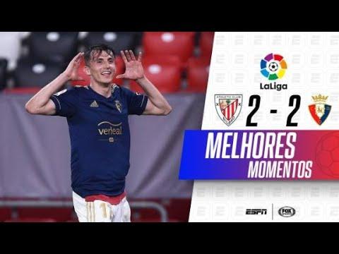 EMOCIONANTE! GOL NO ÚLTIMO MINUTO! Melhores momentos de Athletic Bilbao 2 x 2 Osasuna em LaLiga