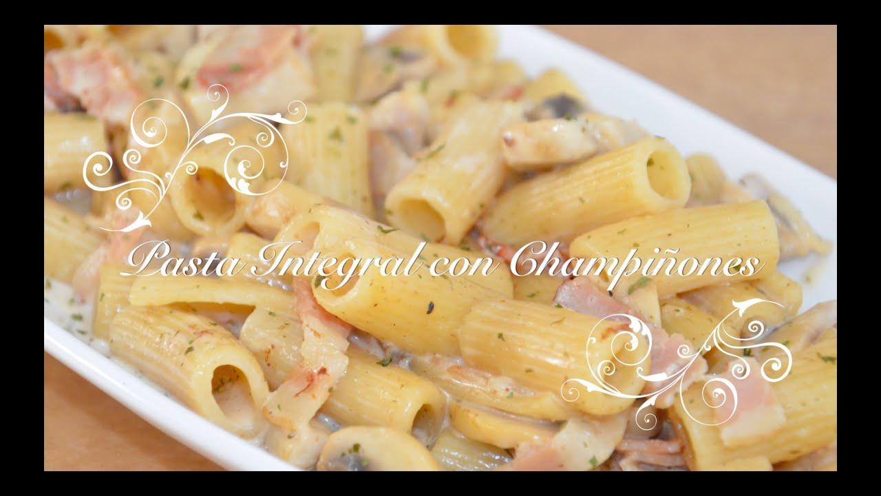 Pasta Integral con Champiñones | Pasta con Champiñones | Pasta Integral Recetas | Recetas de pasta