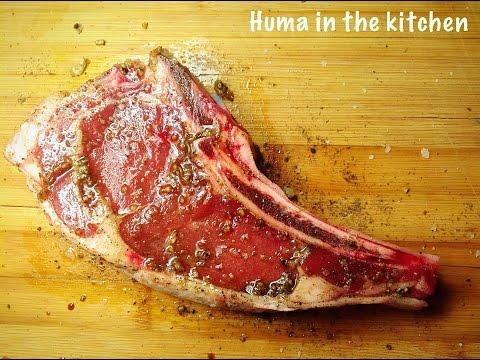 Rib Eye Steak Oven Rib Eye Steak BBQ  How To Cook Perfect Steak by (HUMA IN THE KITCHEN)
