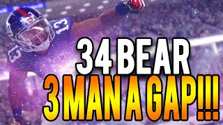 Madden 16 Blitz 34 Bear : Best 3 Man A Gap!!!! 3-4 Bear Nano