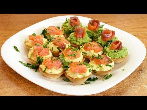 Тарталетки с красной рыбой - праздничная закуска на скорую руку
