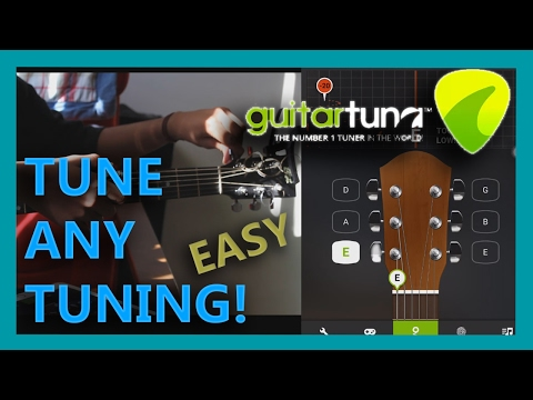 TUNE ANY TUNING GUITAR | GUITAR TUNA | EASY