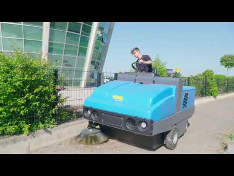 ISAL PB 180 Fabrika depo zemin süpürme makinası, Dizel Yol Süpürücü