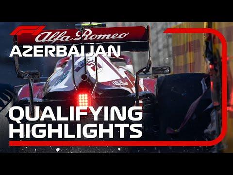 角田裕毅がクラッシュ。F1 アゼルバイジャンGP 予選タイムアタックのハイライト動画
