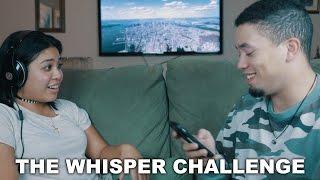 WHISPER CHALLENGE with song lyrics