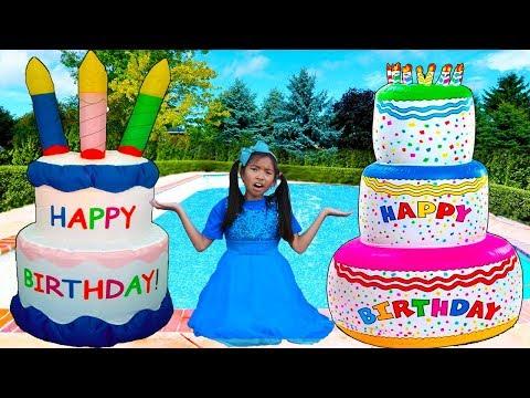 Giant Happy Birthday Cakes Toys | Wendy Pretend Play Surprise Party Kids Toy (видео)