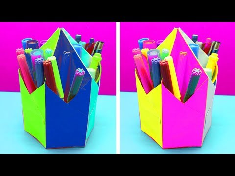 Hexagonal Pen Pencil Holder Diy Simple Life Hack Mr Omg