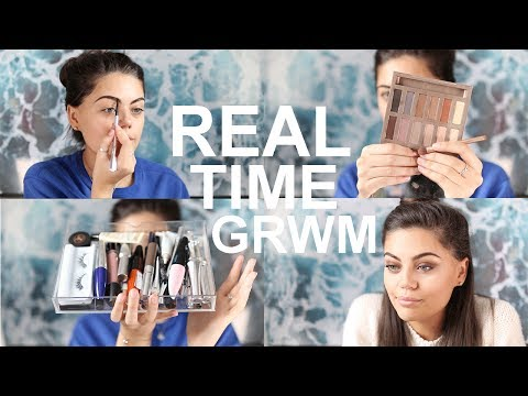 REAL TIME CHIT CHAT GET READY WITH ME! Quick and Easy Makeup and Hair!