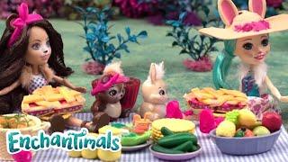 Enchantimals Deutsch 💜Picknick Mit Bren Bear| Enchantimals Puppen